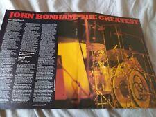 More details for john bonham / led zeppelin - 1983 magazine article / photo