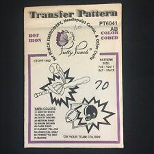 Pretty Punch Hot Iron Transfer Pattern Embroidery PT6041 Baseball Football Sport