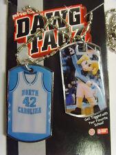 tar heels north carolina dawg tagz necklace key chain set collegiate ncaa 49422