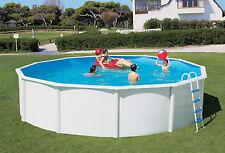 Pool Schwimmbecken rund 3,50 x 1,20 m Stahlwand breiter Handlauf Komplettset