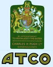 ATCO Vintage Mower Queen Elizabeth II Coat of Arms Repro Decal