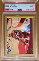💎🔥2009-2010 LeBron James TOPPS GOLD #42 SP /2009 PSA 9 BGS  prizm fleer lakers
