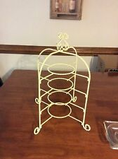 vintage 4 tier display stand made for small tea cups and saucers or plates
