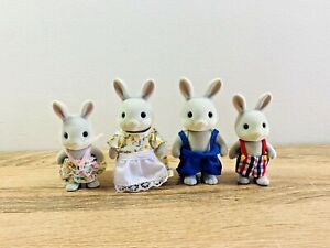 Sylvanian Families Grey Cottontail Rabbit Family Aaron Sorrel Gromwell Willow