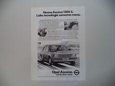 advertising Pubblicità 1980 OPEL ASCONA1300 S