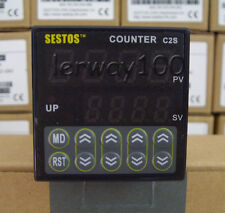 DC 12V-24V DIN Digital Counter Tact Switch Omron Relay Output CE New