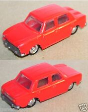 OLD 1960 MICRO EKO HO 1/86 1/87 MADE IN SPAIN SIMCA 1000 ROUGE CHASSIS GRIS