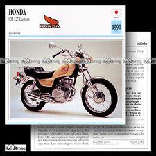 #056.09 HONDA CM 125 CUSTOM 1990 Fiche Moto Motorcycle Card