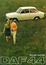 Daf 44 Saloon 1968-69 UK Market Sales Brochure