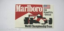 ADESIVO AUTO F1 anni '90 / Old Sticker USA GRAND PRIX - DETROIT (cm 12,5 x 7,5)