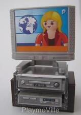 Playmobil Shelves with TV & stereo NEW dollshouse lounge furniture