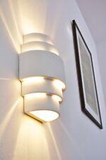 Design Wandlampe Lampe Keramik Wandleuchte weiß Wandstrahler Flurlampe Leuchte
