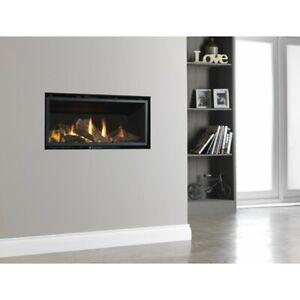 Senso Fireplaces Pinnacle Frameless 860 HE Gas Fire High Efficiency