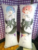 Re Zero long air cushion REM & RAM set SEGA 150 x 50cm Dakimakura from JAPAN