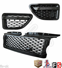 RANGE ROVER SPORT 05-09 AUTOBIOGRAPHY FRONT GRILLE & SIDE VENTS-GLOSS BLACK