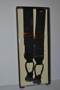 Trafalgar Black Classic Braces Suspenders Button New in Original Package