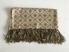 SMART/DAPPER  VTG 60S-70S LIGHT GOLD, YELLOW, BLACK SAMMY GEOMETRIC SCARF, MOD