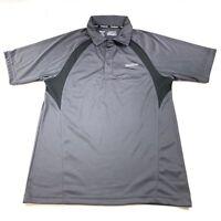 Reebok Men's Short Sleeve Golf Polo Shirt Gray Size Medium