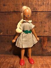 Vintage Poland Polish Wooden Wood Peg Doll