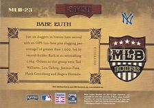 2005 Donruss Prime Cuts Century Silver MLB Icons NY Yankees Babe Ruth 30/50