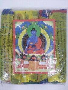 "Tibetan Prayer Flags Lot Of Five Sets Of 25 Flags Size: 7"" X 5"" Each. Handmade I"