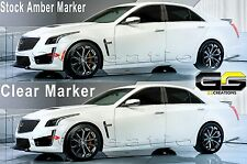 2016 2017 Cadillac CTS-V CTSV CLEAR Side / Rear Bumper Markers