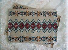 Southwestern Zig Zag Placemat Set Woven Southwest At Heart Pattern Kay Dee