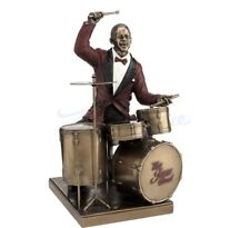 Drum Player Statue Jazz Band Sculpture Musician Figure Home Decor