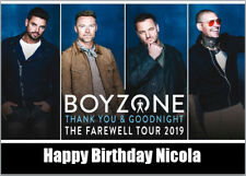 Boyzone Ticket Farewell Tour Birthday Card A5 Personalised any words