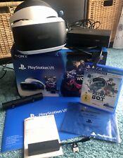 VR Brille V2 für PS4 im Bundle mit Kamera, Adapter für PS5 und Spiel Astrobot