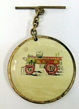 1907 WESTERN NY VOL. FIREMEN'S ASSOC. Hamburg Dept. Batavia Celluloid watch fob
