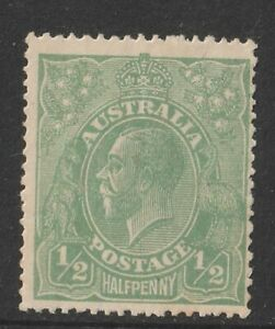 Australia 1915 : 1/2d. Green King George V Head 2nd WMK Mint Never Hinged