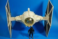 VINTAGE STAR WARS COMPLETE IMPERIAL WHITE TIE FIGHTER KENNER + FIGURE WORKS!
