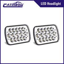 "Pair 5x7"" 7x6"" Sealed Led Headlights Headlamp Hi/Lo Beam Lamp for Jeep Cherokee"