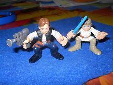Star Wars Hasbro Han Solo & Luke Skywalker 2 Inch Action Figures