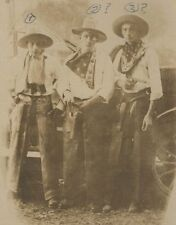 RPPC 3 Young Cowboys One is Bill Nichols KRUXO CARD