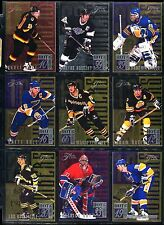 1994-95 FLAIR HOCKEY SUBSETS (3) SCORING POWERCENTER SPOTLIGHT HOT NUMBERS MINT