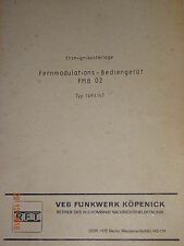 FMB 02 Erzeugnisunterlage, RFT / Funkwerk Köpenick