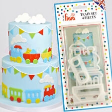 FMM Sugarcraft - Train Set Cutter - Cake Decoration Cutter Set