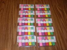 Bulk Lot of - 40-Packs Assorted Color Sticky Flag Notes Mylar-4000 note tabs
