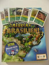 WWF Sammelbilder ENTDECKE BRASILIEN Sticker  Fußballsticker 10 aussuchen