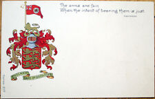 1903 Cape-Of-Good-Hope Postcard: Arms/Crest & Shakespeare Quote - England, Uk