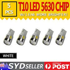 5pcs T10 5630 SMD High Power 3W LED Car Side Turn Parking Light Bulb W/ Lens