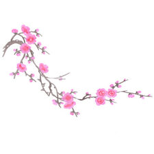 Patch Iron Sew On Patch Plum Blossom Flower Applique Embroidery Stickers