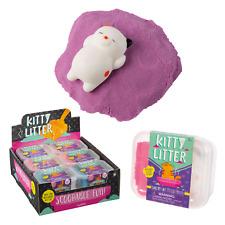 1 Cute squishy kitty + sandbox autism sand sensory play toy