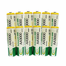 12 pc AA Cell 3000mAh Ni-MH Rechargeable Battery BTY For CD player camera flash