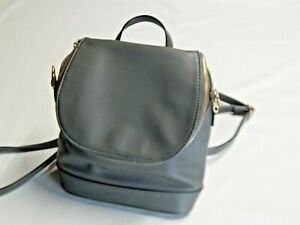 """""""A New Day"""" Convertible Backpack Crossbody Bag Gray Zip Close Top Preowned"""