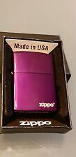 Original Zippo Purple Ice hochglanz m. Logo  - 2018 - Neu - Sonderpreis !