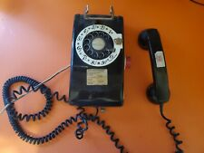 VINTAGE WESTERN ELECTRIC BELL SYSTEM WALL ROTARY DIAL PHONE, Black