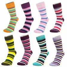 Multi Coloured Thin Striped Ankle Socks (Size: 4-7)